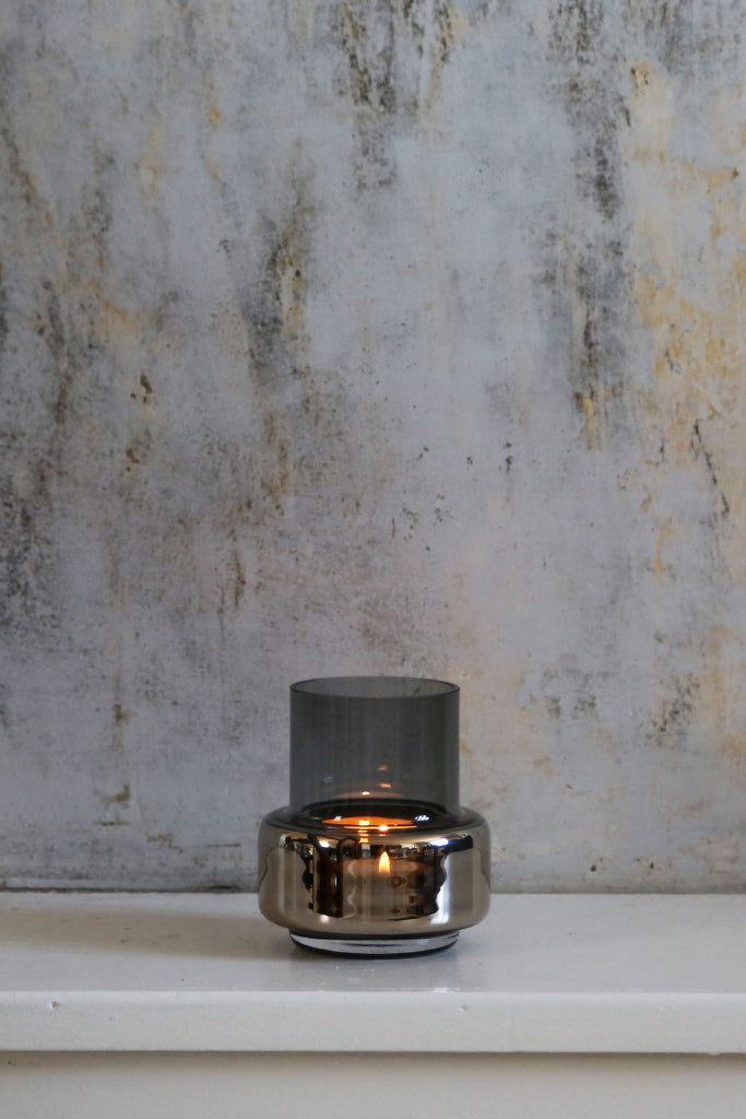 Ro Collection - Hurricane Tealight No.25 Smoked Platinum