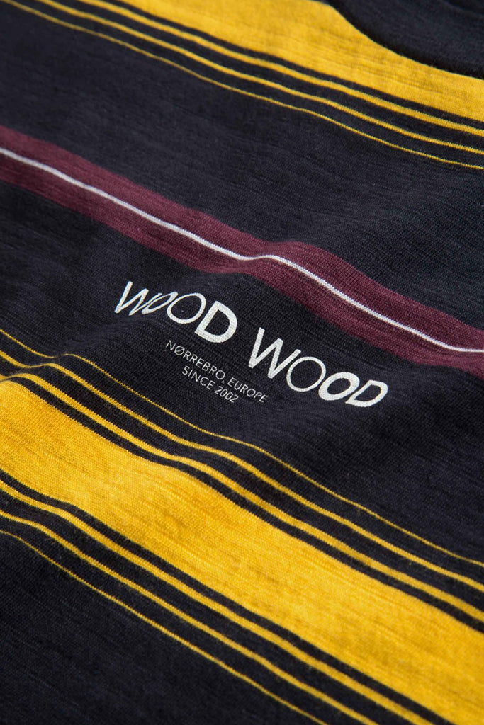 Wood Wood - Perry Tshirt Yellow Stripe