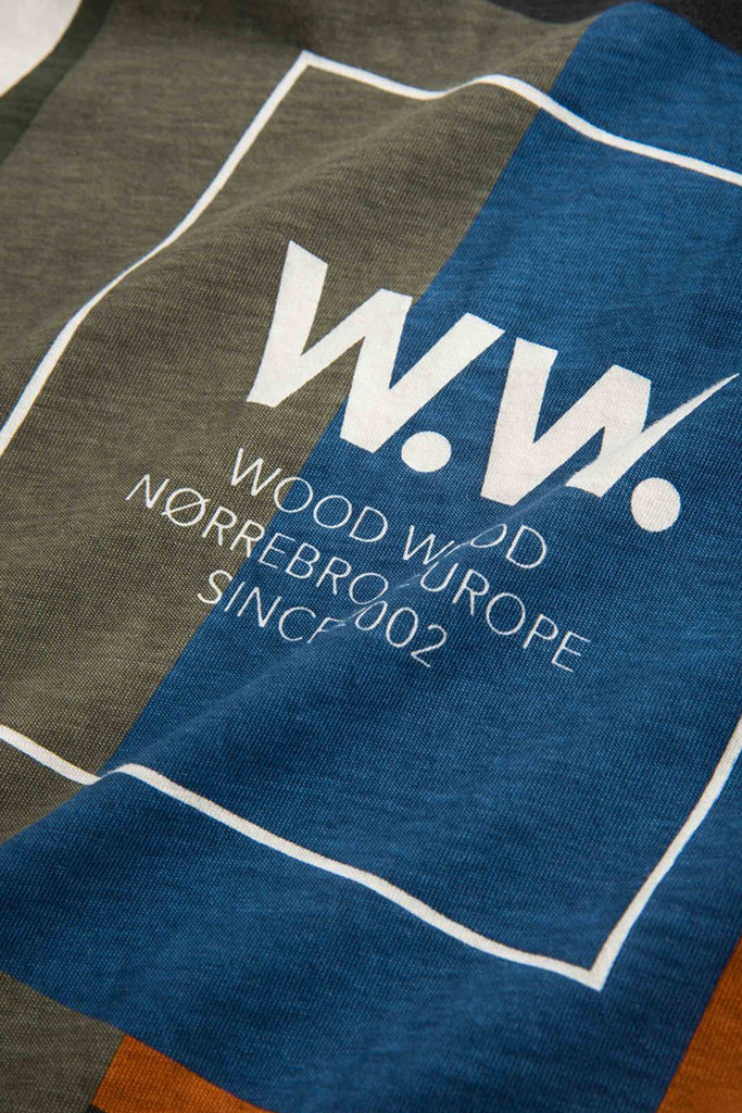 Wood Wood - Quilt Tshirt Off White