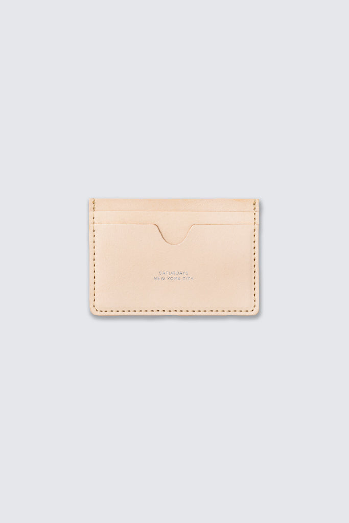 Saturdays NYC - Ryan Card Holder Raw Veg Tan