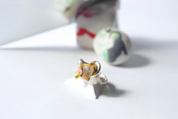 Marbled peach stackable ring