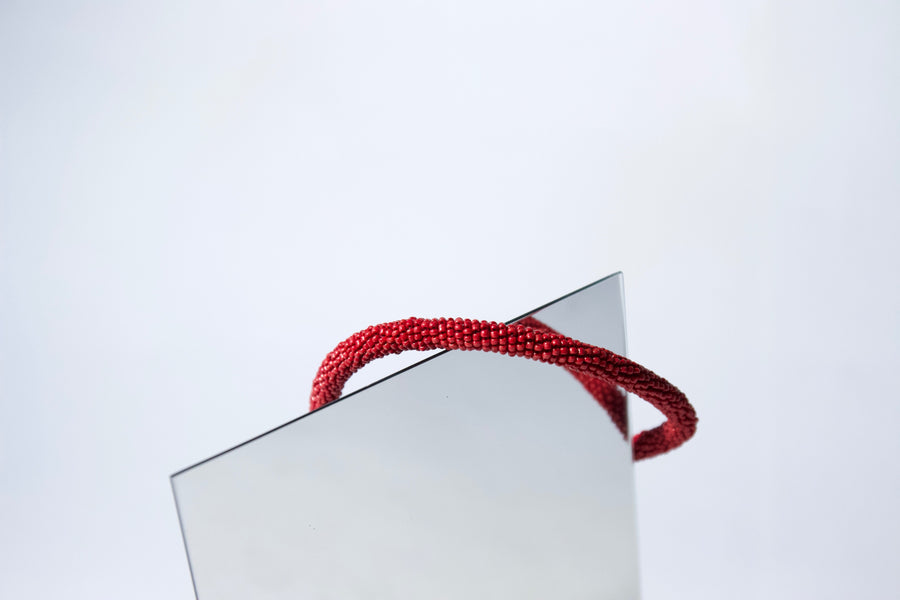 Handmade Cord Necklace in Raspberry Red by Gré