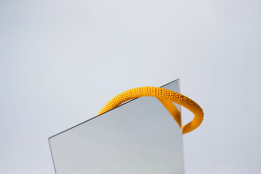 Handmade Cord Necklace in Sunburst Orange by Gré