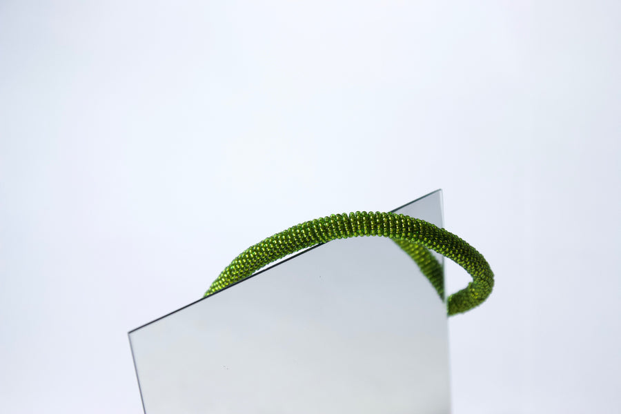 Handmade Cord Necklace in Fern Green by Gré