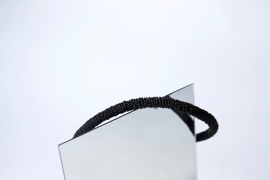 Handmade Cord Necklace in Soot Black by Gré