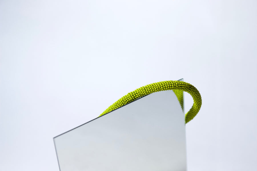 Handmade Cord Necklace in Pickle Green by Gré
