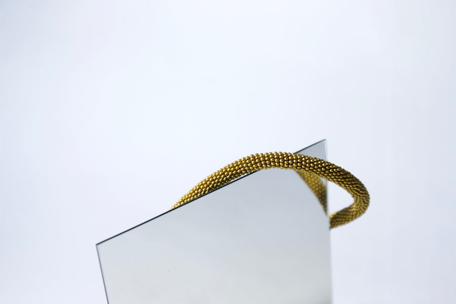 Handmade Cord Necklace in Brushed Gold by Gré