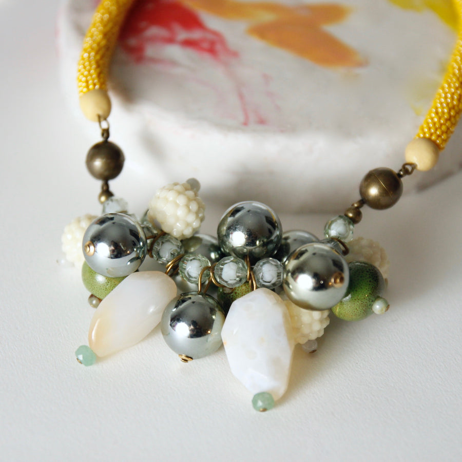 Cluster necklace in rainforest