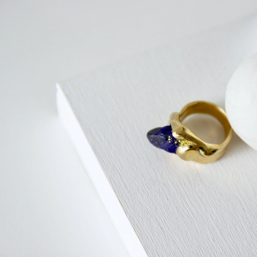 Midnight sky ring