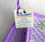 Purple Teacups Padded Potholders Pair of Hand Made Support Animal Charity