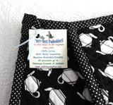 Black And White Teapots Padded Potholders Pair of Hand Made Support Animal Charity