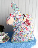 Chintz Rabbit Tea Cozy Large Cosy Padded Bunny Shaped Cozy Ulster Weavers