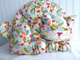 Chintz Cat Tea Cozy Large Cosy Padded Cat Shaped Cozy Ulster Weavers Embroidered