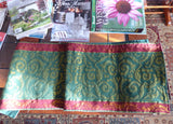 Luxe Metallic Tapestry Table Runner Red Green Gold Crate And Barrel 72 Inches