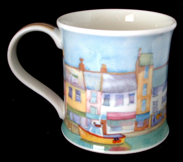 Emma Ball Seaside Mug Seaside Dunoon With Boats Village