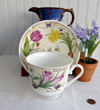 Roy Kirkham Breakfast Size Cup And Saucer Botanical Floral Bouquet Flowers Names