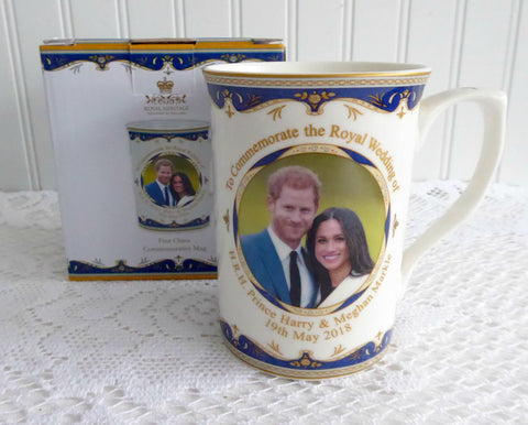 Prince Harry And Meghan Markle Royal Wedding Mug English Bone China 2018 Boxed