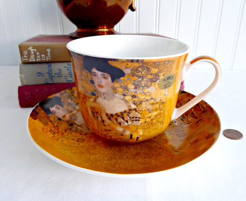 Klimt Portrait Of Adele Breakfast Size Cup And Saucer Leonardo Art Nouveau Bone China