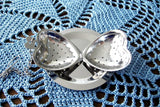 Heart Shape Tea Diffuser Infuser With Chain And Tray New Tea Steeper Stainless Steel