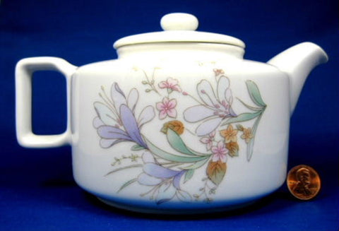 Teapot Floral Wild Flowers Porcelain Hues N Brews New Japan 2006 - Antiques And Teacups - 1
