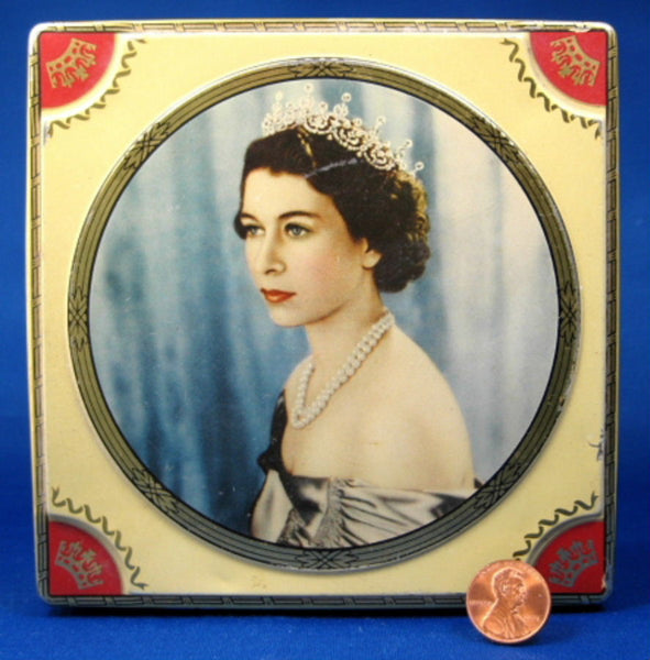 Queen Elizabeth Ii Coronation Tea Tin Chocolate Box 1953
