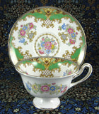 Shelley Green Sheraton Cup and Saucer England Gainsborough Shape - Antiques And Teacups - 1