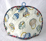 Tea Cozy Padded Teapots Cream Sugar Chintz Binding Hand Made 1960s - Antiques And Teacups - 3