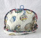 Tea Cozy Padded Teapots Cream Sugar Chintz Binding Hand Made 1960s - Antiques And Teacups - 4