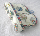 Tea Cozy Padded Teapots Cream Sugar Chintz Binding Hand Made 1960s - Antiques And Teacups - 5