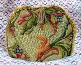 Tea Cozy Golden Brown Tapestry Padded US Foliage Fringe Tassel Tea Cosy - Antiques And Teacups - 1