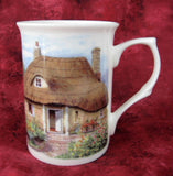 Charming Mug English Thatched Cottage And Garden English Bone China New - Antiques And Teacups - 2