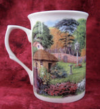 Charming Mug English Thatched Cottage And Garden English Bone China New - Antiques And Teacups - 4