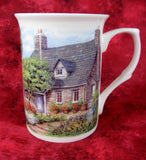 Charming Mug Adderley English Hill Cottage And Garden Bone China English Villages Tea Party - Antiques And Teacups - 2