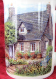 Charming Mug Adderley English Hill Cottage And Garden Bone China English Villages Tea Party - Antiques And Teacups - 3