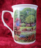 Charming Mug Adderley English Hill Cottage And Garden Bone China English Villages Tea Party - Antiques And Teacups - 5
