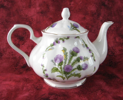 Glamis Thistle Teapot New Springfield English Bone China 4-6 Cups New - Antiques And Teacups - 1