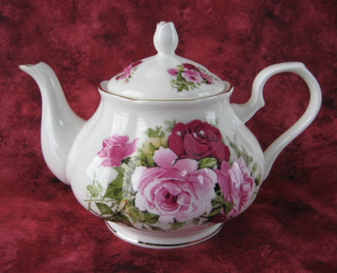 Teapot Summertime Rose New Springfield English Bone China 4-6 Cups - Antiques And Teacups - 1