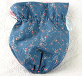 Tea Cozy Padded Blue And Pink Floral Reversible USA Handmade Cosy - Antiques And Teacups - 4