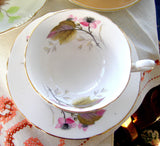 Shelley Bramble Cup And Saucer Briar Rose Lincoln 1963-1966 Pink Lavender Grey - Antiques And Teacups - 2