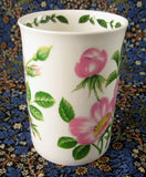 Mug Wild Rose Botanical English Bone China Crown Trent Pink Roses - Antiques And Teacups - 3