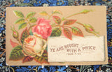 Victorian Visiting Cards Calling Cards Assorted Set of 10 Flowers Mottoes Ephemera Teatime Decor