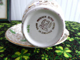 Shamrock Chintz Cup And Saucer Phoenix England Art Deco Forester 1930s St. Patrick's Day Irish - Antiques And Teacups - 4