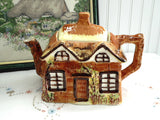 Price Kensington Cottage Ware Teapot Ye Olde Cottage Hand Painted 1950s Large - Antiques And Teacups - 1