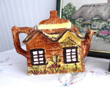 Price Kensington Cottage Ware Teapot Ye Olde Cottage Hand Painted 1950s Large - Antiques And Teacups - 2