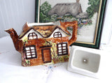 Price Kensington Cottage Ware Teapot Ye Olde Cottage Hand Painted 1950s Large - Antiques And Teacups - 3