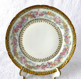 Gorgeous Haviland Limoges Side Plate Ornate Floral Gold Roses Antique 1900-1910 - Antiques And Teacups - 2