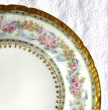 Gorgeous Haviland Limoges Side Plate Ornate Floral Gold Roses Antique 1900-1910 - Antiques And Teacups - 3