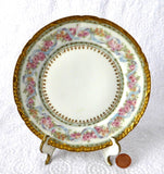 Gorgeous Haviland Limoges Side Plate Ornate Floral Gold Roses Antique 1900-1910 - Antiques And Teacups - 4