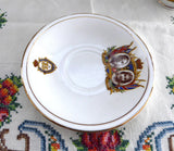 Cup and Saucer Coronation 1937 King George VI Queen Elizabeth English Bone China - Antiques And Teacups - 4