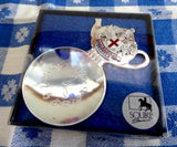 Boxed Tea Caddy Spoon 4 O Clock Bowl Teapot Finial London England Souvenir - Antiques And Teacups - 2
